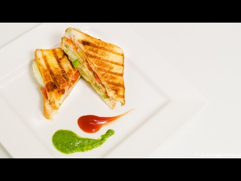 Veg Grill Sandwich Recipe Double Decker - Quick & Easy Indian Street Style