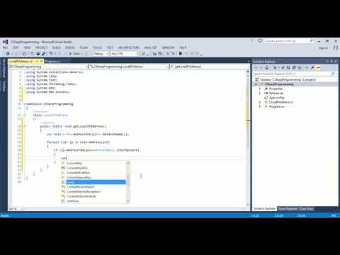 C# programming code – get local IP address