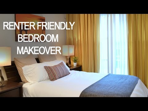 Quick, affordable renter-friendly small bedroom makeover: color, storage ideas for jewelry & more