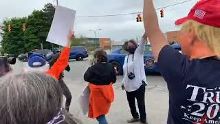 Trump Supporters, Protesters Rally At Trump Michigan Visit
