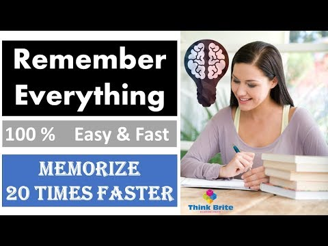 How to Remember Everything (100%) you Study | Memorize Fast & Easier for Students