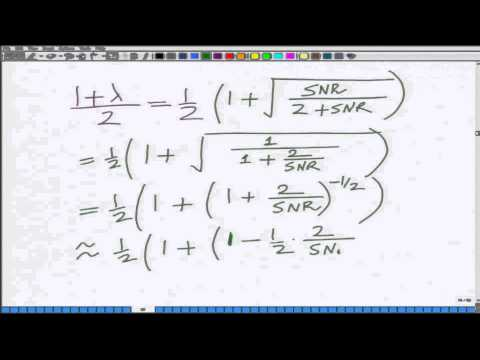 Lecture 15: Approximate BER for Multiple Antenna Wireless System