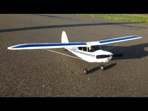RC Plane Crash - Hobbyzone Super Cub Trainer Plane - Repair, Maiden Flight, and Crashes