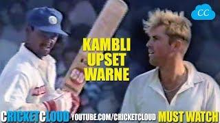 Shane Warne SUPER UPSET by Vinod Kambli !! FIND OUT WHY !!