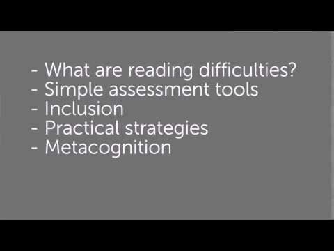 Supporting children with difficulties in reading and writing