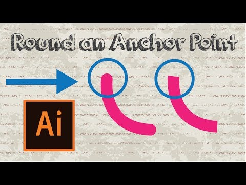 How to round an anchor point / line in Adobe Illustrator