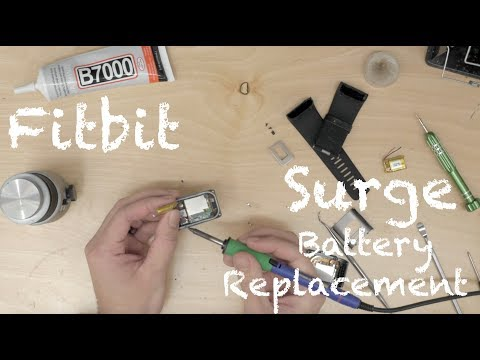 How to Replace Fitbit Surge Battery Replacement Swap Tutorial JoesGE