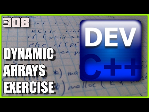 C++ EXERCISES Dynamic Arrays using malloc
