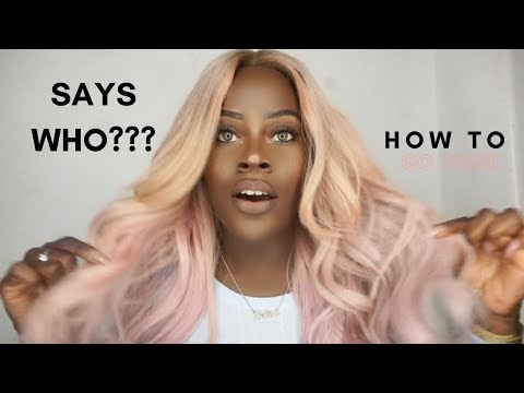 BLACK GIRLS SHOULDN'T WEAR PINK HAIR?! #HERHAIRCOMPANY