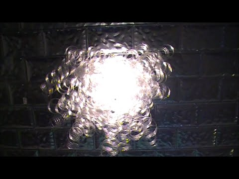 DIY Recycled Plastic Water Bottle Chandelier