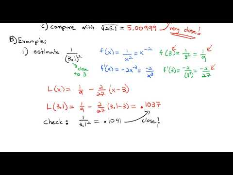 4.2 Linear Approximations and Differentials