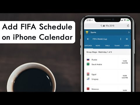 How to Add FIFA World Cup 2018 Schedule to iPhone Calendar
