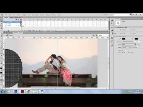Shape Mask Animation in Flash : Adobe Flash CS6 Tutorial