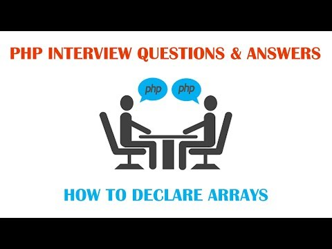 PHP Interview Questions and Answers - How to Declare Array in PHP