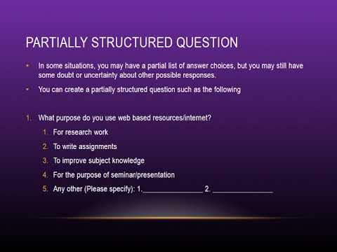 how to make a good research questionnaire