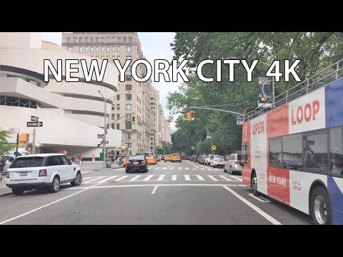 Driving Downtown 4K - NYC's Central Park - New York City USA