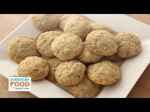Lemon-Ginger Cookies with Mint - Everyday Food with Sarah Carey