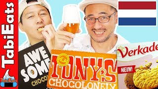 Japanese Try Dutch Snacks and Treats (TASTE TEST)