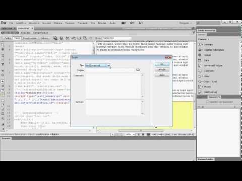 19   Dreamweaver CS6   Contact Form  JS e Gestione Eventi
