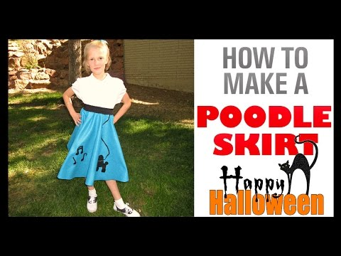How To Make A Poodle Skirt | 1950'S HALLOWEEN COSTUME