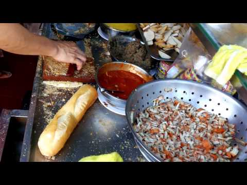Asian Street Food - Cambodian Sandwiches - Phnom Penh Street Food - Youtube