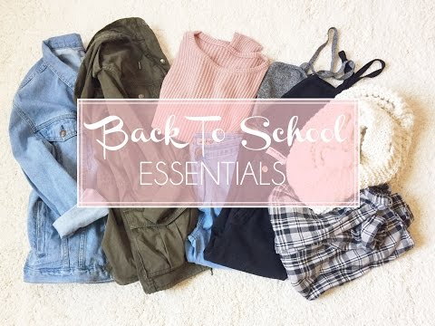 My Back To School Clothing Essentials!