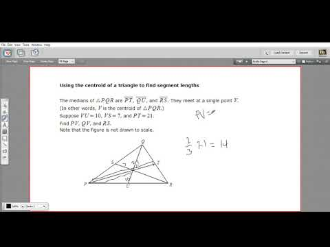 Using the centroid to find segment lengths