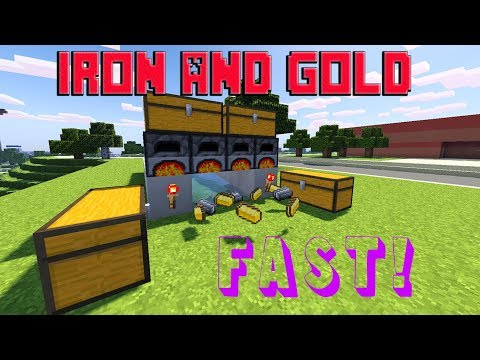 How to make an automatic furnace system in Minecraft 1.12+ for survival! [EASY TUTORIAL] *Cheap*