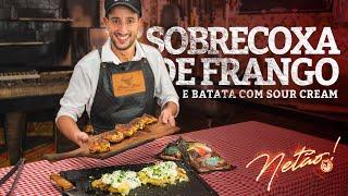 Sobrecoxa de Frango com Chimichurri e Batata com Sour Cream do Netão! | Netão! Bom Beef #50