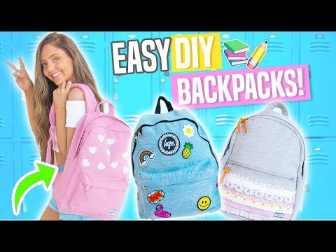 Easy DIY Backpacks for Back To School 2017!