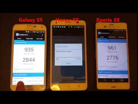 Galaxy S5 vs Xperia Z3 vs Honor 3X: GeekBench Test: Benchmark Performance Comparsion