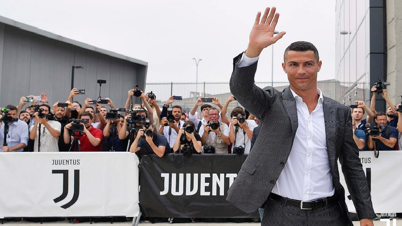 El primer día de Cristiano Ronaldo con la Juventus