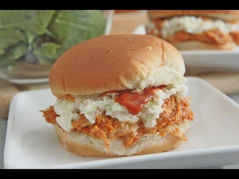 Easy Sweet & Spicy Pulled BBQ Chicken Sandwiches