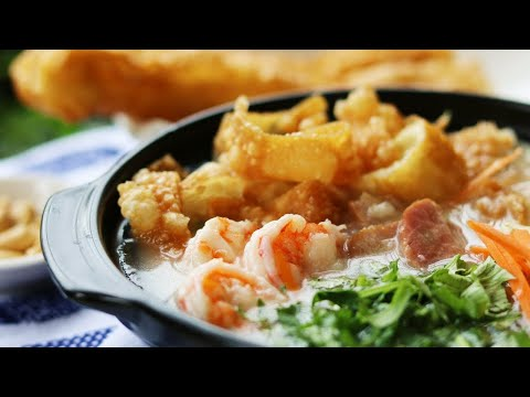 THE ART OF DIM SUM - Chinese Rice Porridge Sampan Congee Recipe [艇仔粥]