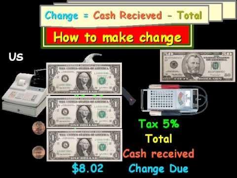 How to make change (cash register)