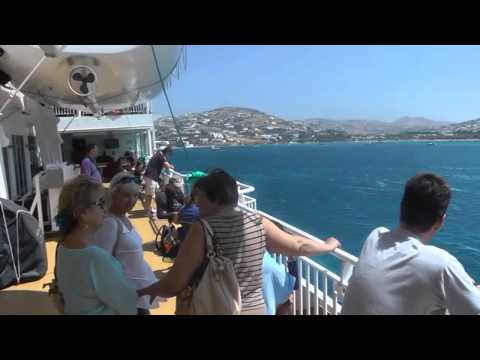 From Pereus to Santorini by ferry