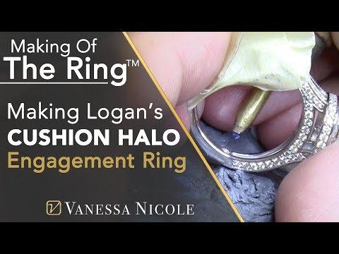 MAKING A 2CT ENGAGEMENT RING | Logan's *BLING* Custom Diamond Ring |  Vanessa Nicole Jewels