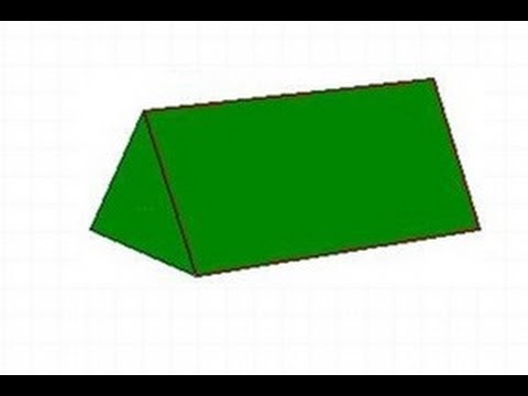 How to calculate total and lateral surface area of a triangular prism