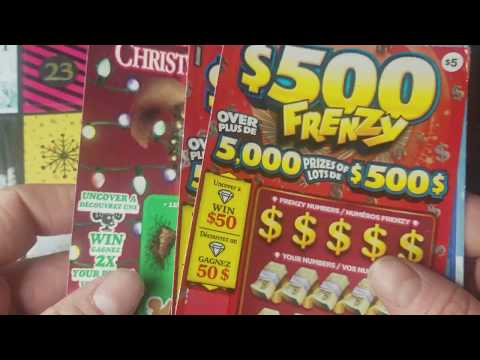 WIN! SO MANY CANADIAN TICKETS! CANADA LOTTERY SCRATCH OFF TICKETS