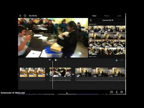 How to change transitions in iMovie App