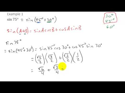 Trigonometry - Finding Exact Value Using Sum and Difference Identities Example 1