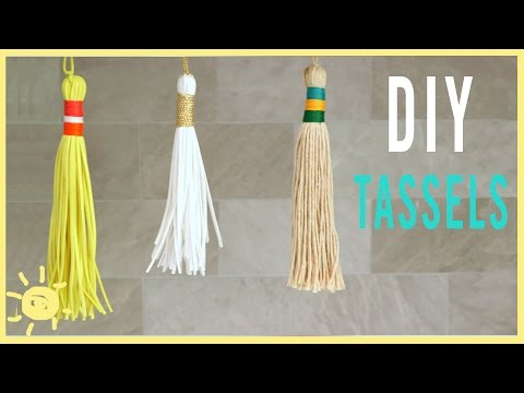 DIY   How To Make Tassels (Perfect for Back to School!!)