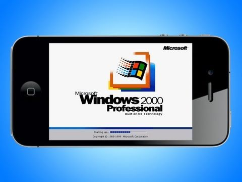 Windows 2000 on iPod Touch/iPhone!