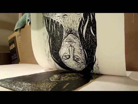 Linoleum block / Lino cut printing demonstration and technique