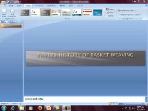 Creating a Banner for Blackboard in PowerPoint