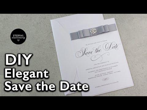 Easy Elegant Save the Date Invitation  | Wedding Invitations DIY | Eternal Stationery