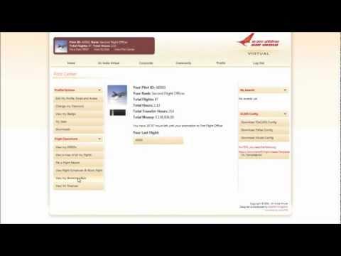 Tutorial - How to Book/Bid a Flight at Air India Virtual
