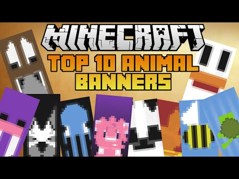 Minecraft 10 epic Animal banners! With tutorial!