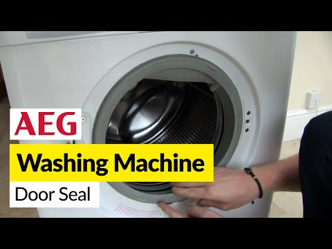 How to replace a washing machine door seal on an AEG washer dryer