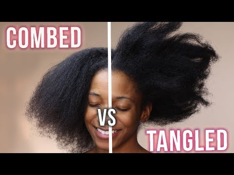 How to Comb Tangled Thick Natural Curly Hair (PAIN FREE METHOD)|ANNESHA ADAMS